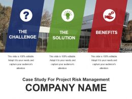 Case Study For Project Risk Management Powerpoint Template