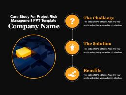 Case Study For Project Risk Management Ppt Template