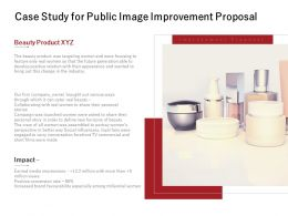 Case Study For Public Image Improvement Proposal Ppt Powerpoint Presentation File