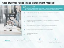 Case Study For Public Image Management Proposal Ppt Powerpoint Presentation Portfolio
