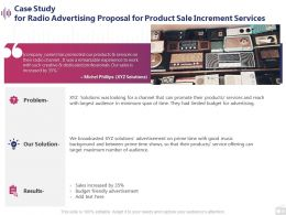 Case Study For Radio Advertising Proposal For Product Sale Increment Services Presentation Layout