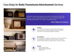 Case Study For Radio Transmission Advertisement Services Ppt Example File