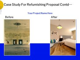 Case Study For Refurnishing Proposal Contd Ppt Powerpoint Presentation