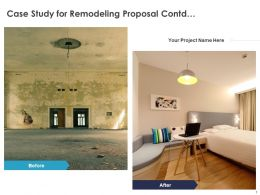 Case Study For Remodeling Proposal Contd C1086 Ppt Powerpoint Presentation Gallery Slides