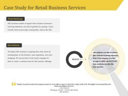 Case Study For Retail Business Services Challenge Ppt Model