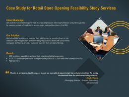 Case Study For Retail Store Opening Feasibility Study Services Ppt Powerpoint Gallery