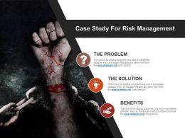 Case Study For Risk Management Ppt Slide