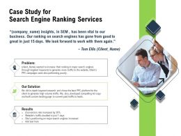 Case Study For Search Engine Ranking Services Solution Ppt Powerpoint Presentation Shapes