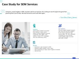 Case Study For SEM Services Ppt Powerpoint Presentation Inspiration Graphics