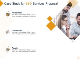 Case Study For SEO Services Proposal Ppt Powerpoint Presentation Summary Outline