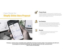 Case Study For Shopify Online Store Proposal Ppt Powerpoint Presentation Icon Styles