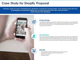 Case Study For Shopify Proposal Ppt Powerpoint Presentation Professional Maker