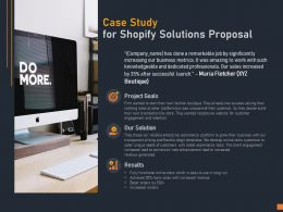 Case Study For Shopify Solutions Proposal Ppt Powerpoint Presentation Model