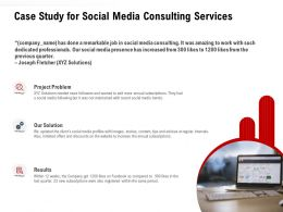 Case Study For Social Media Consulting Services Ppt Powerpoint Presentation Maker