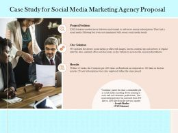 Case Study For Social Media Marketing Agency Proposal Ppt Powerpoint Presentation Layouts
