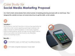 Case Study For Social Media Marketing Proposal Ppt Powerpoint Presentation Professional
