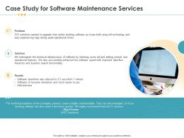 Case Study For Software Maintenance Services Technology Ppt File Slides