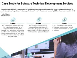 Case Study For Software Technical Development Services Ppt Template