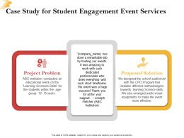 Case Study For Student Engagement Event Services Ppt Powerpoint Presentation Tutorials