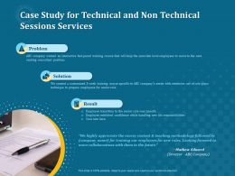 Case Study For Technical And Non Technical Sessions Services Ppt File Topics