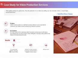 Case Study For Video Production Services Ppt File Format Ideas