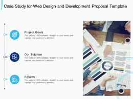 Case Study For Web Design And Development Proposal Template Ppt Powerpoint Presentation Layout