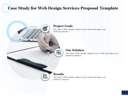 Case Study For Web Design Services Proposal Template Ppt Powerpoint Outline