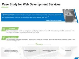 Case Study For Web Development Services Ppt Powerpoint Presentation File Example