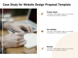 Case Study For Website Design Proposal Template Ppt Powerpoint Gallery