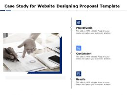 Case Study For Website Designing Proposal Template Ppt Powerpoint Icon Aids
