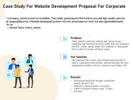 Case Study For Website Development Proposal For Corporate Ppt File Formats