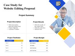 Case Study For Website Editing Proposal Ppt Powerpoint Presentation Graph Charts