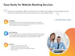 Case Study For Website Ranking Services Ppt Powerpoint Presentation File Display