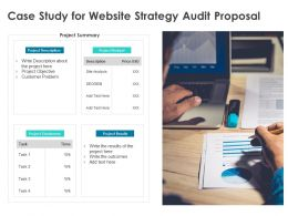 Case Study For Website Strategy Audit Proposal Ppt Powerpoint Presentation Styles Example