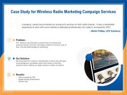 Case Study For Wireless Radio Marketing Campaign Services Ppt Demonstration