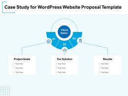 Case Study For WordPress Website Proposal Template Ppt Powerpoint Presentation Example