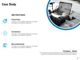 Case Study Goals Measurable Ppt Powerpoint Presentation Summary