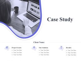 Case Study Goals Ppt Powerpoint Presentation Model Topics