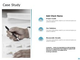 Case Study Measurable Results Ppt Powerpoint Presentation Visual Aids Gallery