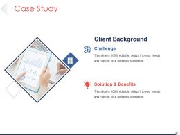 Case Study Powerpoint Templates Template 1
