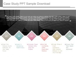 Case Study Ppt Sample Download