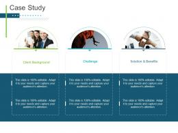 Case Study Presenting Oneself For A Meeting Ppt Infographics