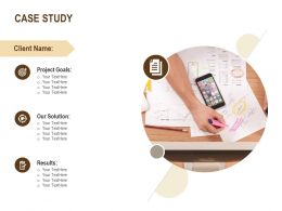 Case Study Project Goals Business Ppt Powerpoint Presentation Ideas Introduction