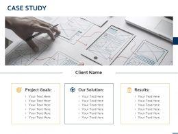 Case Study Project Goals Success Ppt Powerpoint Presentation Slides