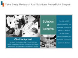 Case Study Research And Solutions Powerpoint Shapes