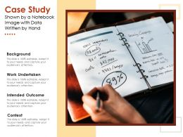 Case Study Shown By A Notebook Image With Data Written By Hand