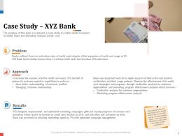 Case Study XYZ Bank Cardholder Analysis Powerpoint Presentation Tips