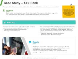 Case Study XYZ Bank Ppt Powerpoint Presentation Pictures Guide