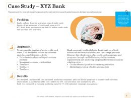 Case Study XYZ Bank Ppt Powerpoint Presentationmodel Brochure