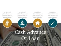 Cash Advance Or Loan Ppt Icon